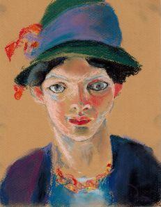 August_Macke_s_wife_1909